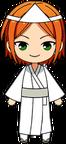 Hinata Aoi Ghost Outfit chibi