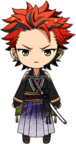 Kuro Kiryu Scroll of the Elements chibi
