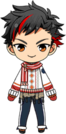 Tetora Nagumo Winter CM Outfit chibi