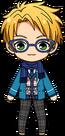 Makoto Yuuki Winter Uniform + Muffler chibi
