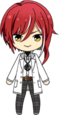 Natsume Sakasaki Student Uniform (Winter + White Coat) chibi