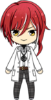 Natsume Sakasaki Student Uniform (Winter + White Coat) chibi