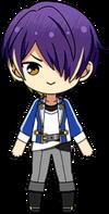 Shinobu Sengoku academy idol uniform chibi