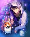 (Wolf Corgi) Koga Oogami Frameless Bloomed