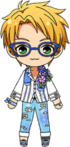 Makoto Yuuki Summer Flowers chibi