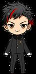Tetora Nagumo Gakuran Uniform chibi