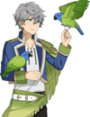 (Blue-Hooded Parrot) Izumi Sena Full Render Bloomed