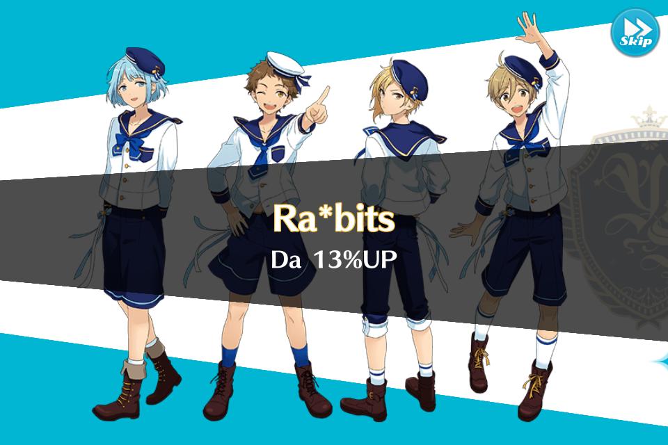 Rabbits 13% Up
