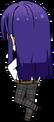 Souma Kanzaki Student Uniform Shirt (Hair Down) chibi back