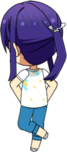 Souma Kanzaki Tanabata Practice Outfit chibi back