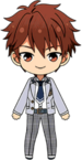 Chiaki Morisawa School Uniform From Somewhere chibi