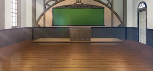 Empty Yumenosaki Academy Classroom Full