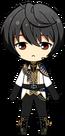 Ritsu Sakuma Knights Return uniform chibi