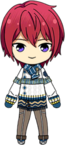 Tsukasa Suou Winter CM Outfit chibi