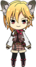 Nazuna Nito Forest Flying Squirrel Outfit chibi