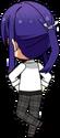 Souma Kanzaki Student Uniform Shirt chibi back
