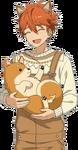 (Mischievous Shiba) Subaru Akehoshi Full Render Bloomed