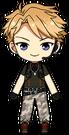 Arashi Narukami Military Outfit chibi
