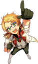 (Moving Forward) Makoto Yuuki Full Render Bloomed