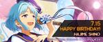 Hajime Shino Birthday 2017 Gamegift Banner