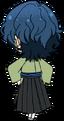 Tsumugi Aoba Ronin Outfit chibi back