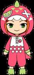 Hinata Aoi Strawberry Picking chibi