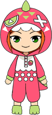 Hinata Aoi Strawberry Picking chibi