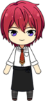 Tsukasa Suou Student Uniform (Winter) with Apron Outfit chibi