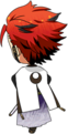 Kuro Kiryu Scroll of the Elements chibi back