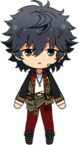 Jin Sagami Rainbow Stage Outfit chibi