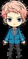 Shu Itsuki student uniform chibi