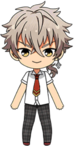 Koga Oogami Summer Last Year's Appearance Outfit chibi