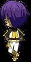 Shinobu Sengoku ES RYUSEITAI Uniform chibi back
