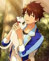 (Kitten and Sunset) Chiaki Morisawa Frameless Bloomed
