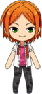 Hinata Aoi Summer Uniform (Wet) chibi