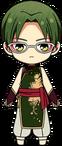 Keito Hasumi Zodiac Snake Outfit chibi