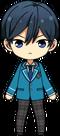 Hokuto Hidaka student uniform chibi