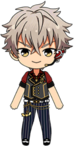 Koga Oogami Jazz Band chibi