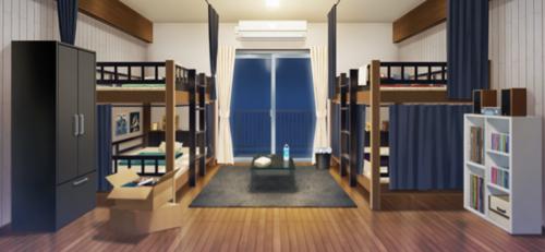 Seisou Hall Dorm Room (ALKALOID) (Night - Bright) Full