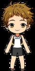 Mitsuru Tenma Track Club Uniform chibi