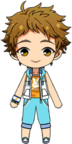Mitsuru Tenma Summer Lesson Wear chibi