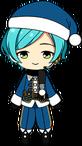 Kanata Shinkai Santa Outfit chibi
