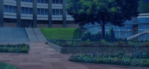 Seisou Hall Courtyard (Night - Dark) Full