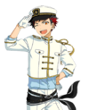 (Admiring Navy Uniform) Tetora Nagumo Full Render Bloomed