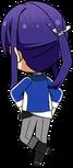 Souma Kanzaki Academy Idol Uniform chibi back