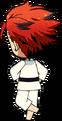 Kuro Kiryu Karate chibi back