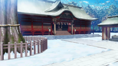 Winter Shrine Grounds Full