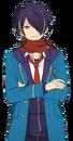 Shinobu Sengoku Winter Scarf Dialogue Render