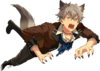 (Halloween Wolf) Koga Oogami Full Render