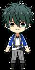 Mika Kagehira academy idol uniform chibi